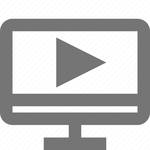 imac, media, monitor, movie, play, song, video icon