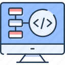 browser, flowchart, mapping, planning, programming, website icon
