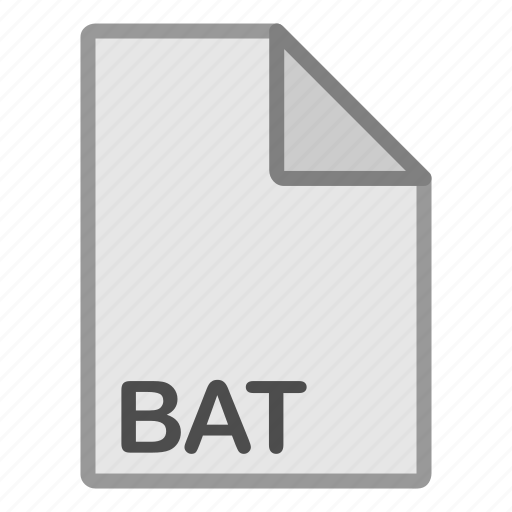 bat, extension, file, format, hovytech, programming, type icon