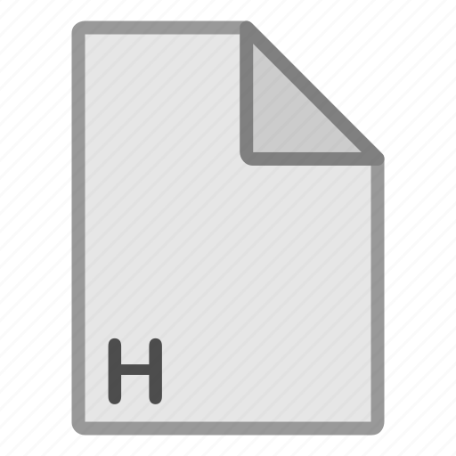 extension, file, format, h, hovytech, programming, type icon