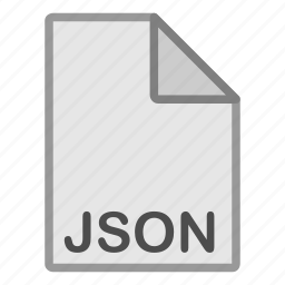 extension, file, format, hovytech, json, programming, type icon