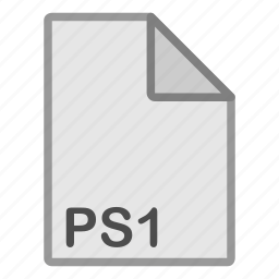 extension, file, format, hovytech, programming, ps1, type icon