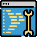 code, coding, programming, seo, solve, web icon