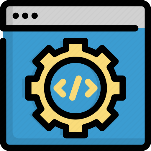 code, coding, configuration, gear, options, programming, settings icon