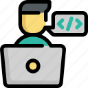 code, coding, design, development, programmer, programming icon