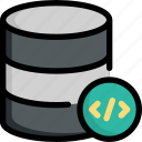 code, coding, database, programming, server, storage icon