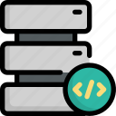 code, coding, data, database, programming, server, storage icon