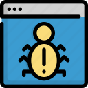 bug, code, coding, programming, seo, virus, web icon