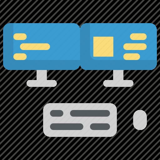 code, coding, computer, laptop, monitor, programming, screen icon