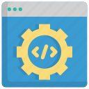 code, coding, development, gear, options, programming, settings icon