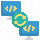 code, coding, development, programming, refresh, reload, sync icon
