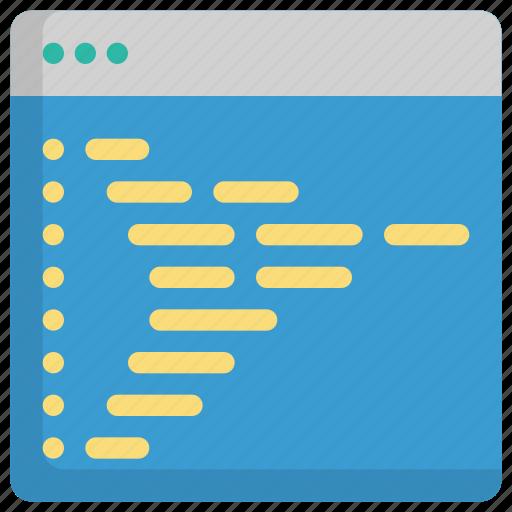code, coding, design, development, programming icon