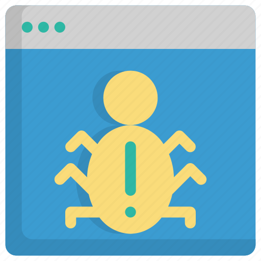 bug, code, coding, online, programming, virus, web icon