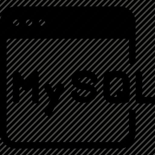 coding, database, development, language, mysql icon