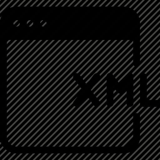code, coding, development, programming, xml icon