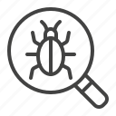 bug, fixing, programming, virus icon