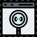 app, browser, coding, develop, development icon