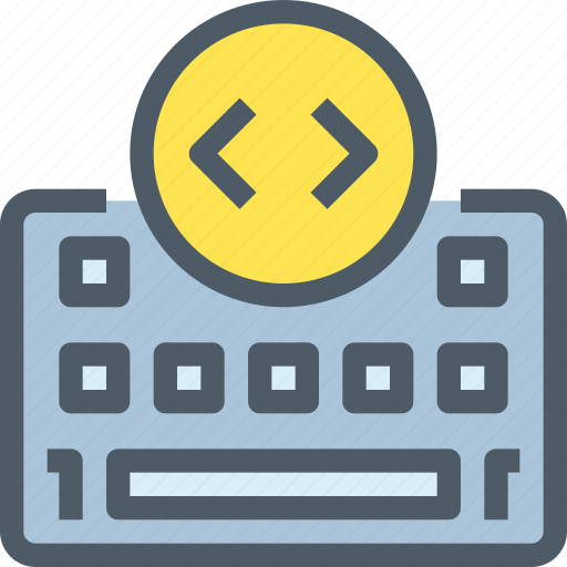 code, coding, develop, development, keyboard icon