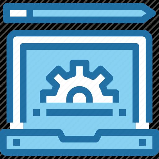 computer, develop, development, gear, learning, process icon