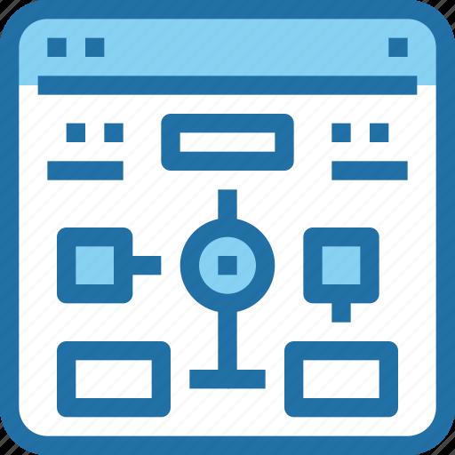 browser, develop, development, flowchart, plan icon