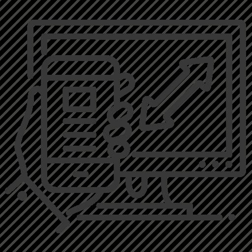 computer, development, mobile app, responsive design icon