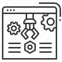 gears, screw nut, settings, software icon