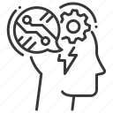 digital, head, ideas, thoughts