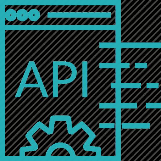 api, api settings, application, design, interface, ui, web icon