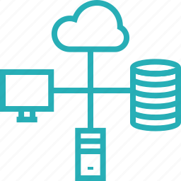 cloud, computing, data, database, network, server, transfer icon