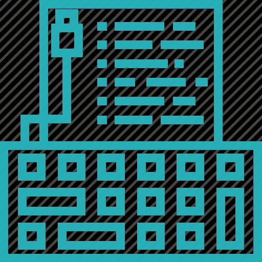 document, key, keyboard, keys, type, typing icon