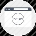internet, languages, programming, python icon