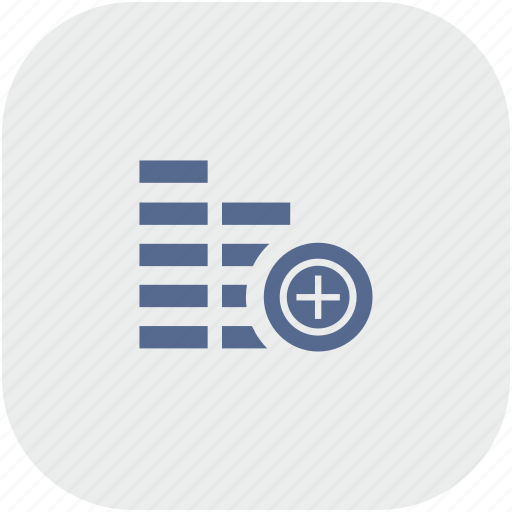 account, add, cash, create, gray, money, rounded, square icon