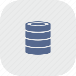 bank, data, gray, info, rounded, square, storage icon