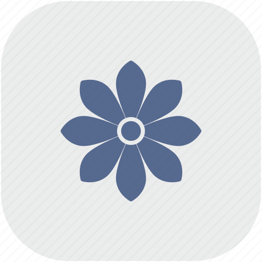 bud, flower, gray, plant, rose, rounded, square icon