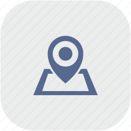 geo, gray, map, navigation, pointer, rounded, square icon
