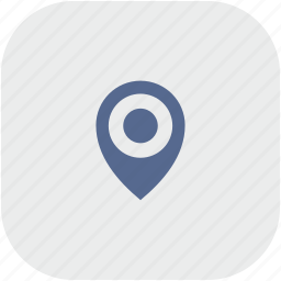 geo, gray, navigation, place, pointer, rounded, square icon