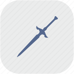 blade, gray, knife, rounded, square, sword, weapon icon
