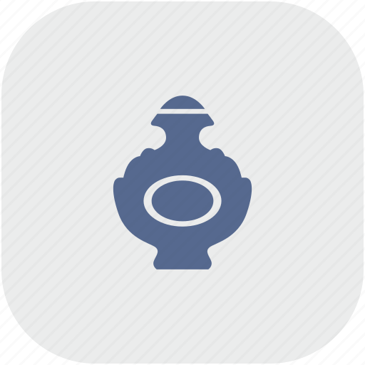 aroma, bottle, gray, lady, parfume, rounded, square icon