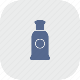 aroma, bottle, gray, men, parfume, rounded, square icon