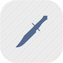 blade, gray, knife, rembo, rounded, square icon