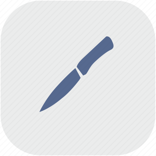 gray, kitchen, knife, rounded, salat, square icon