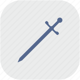 blade, gray, rounded, square, sword, weapon icon