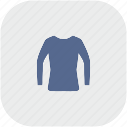 gray, jacket, rounded, shopping, square, wear, woman icon
