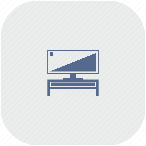 gray, plazma, rounded, screen, set, tv, wide icon