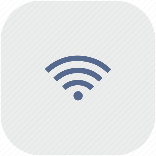 connect, free, gray, internet, rounded, square, wifi icon