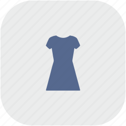 dress, evening, gray, rounded, shopping, square, woman icon