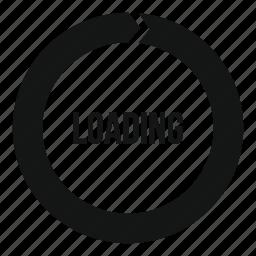 bar, circle, download, interface, load, progress, round icon