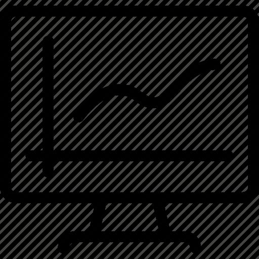 analytics, chart, graph, graphlcd, icon icon