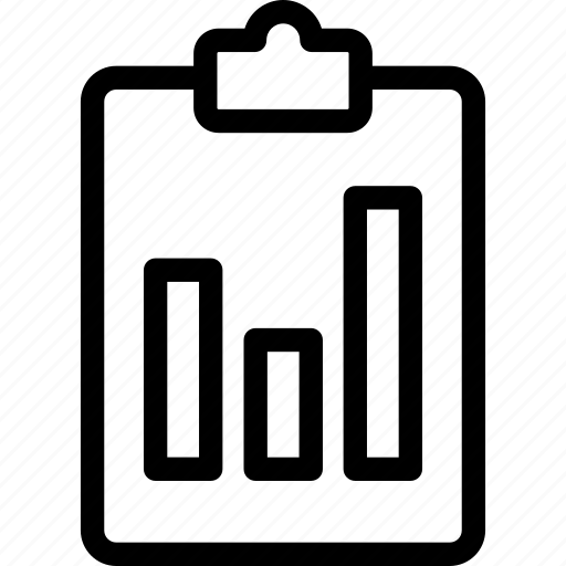 analyticschartlinegraphprogressclipboardline, chart, icon icon
