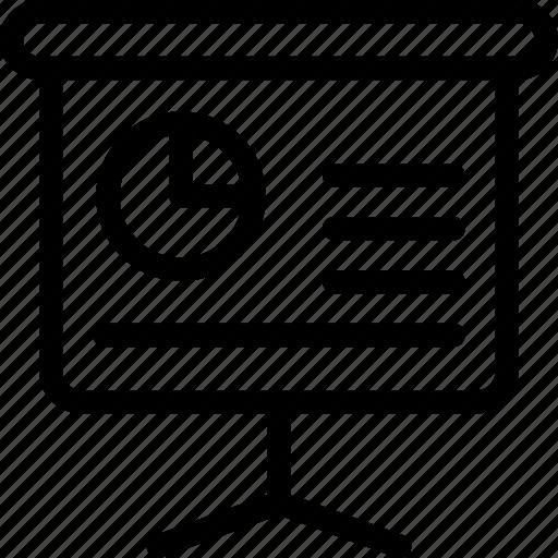 business, easel, graph, icon, pie, presentation icon